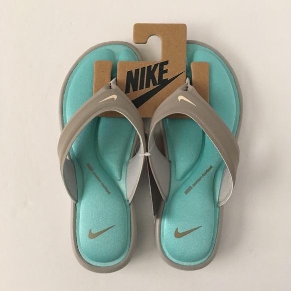 the best attitude d67d4 20593 Nike Ultra Comfort 7 Sandals Thong Flip Flop Aqua